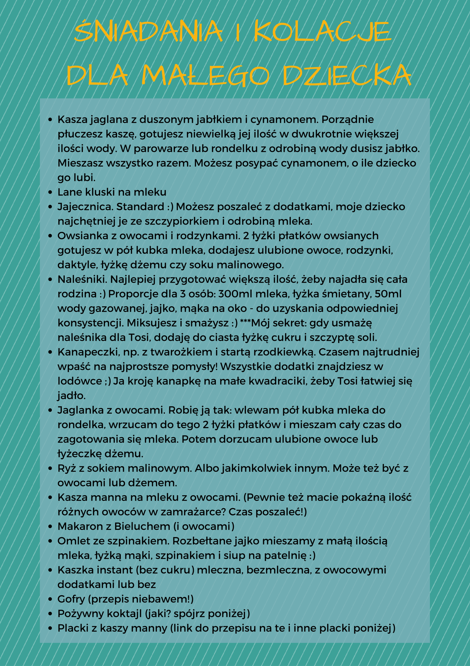 15 Przepisow Na Sniadania I Kolacje Dla Dziecka Lista Do Pobrania