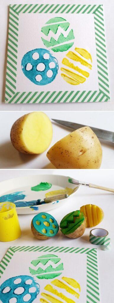 mamacarla wielkanoc diy stemple z ziemniaka
