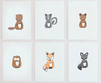 plakaty zwierzątka